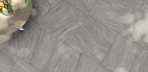 Clash tile in the finish Essence used in a dining area